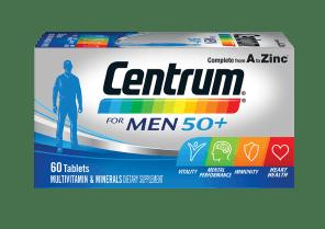 Centrum for men 50+ pack shot