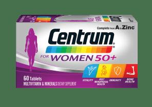 Centrum Advance for women 50+ pack shot