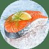 Beyond carrots salmon steak