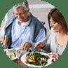 Health advice finish plate
