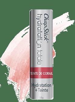 Baume pour les lèvres Hydratation plus teinte Teinte de corail