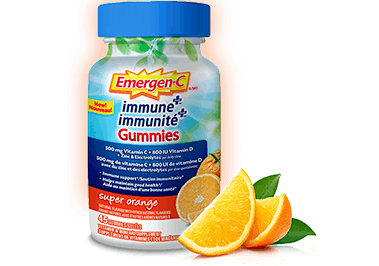 Emergen-C Immune+ Gummies Super Orange