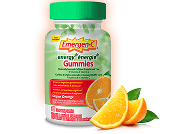 Emergen-C Energy+ Gummies Super Orange