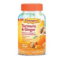 Box of Emergen-C Daily Immune Support Gummies and Botanicals in Turmeric and Ginger