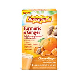 Box of Emergen-C Daily Immune Support and Botanicals Turmeric and Ginger