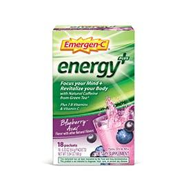 Emergen-C Energy+ Blueberry Acai flavor