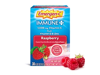 Package of Emergen-C Immune+ Raspberry