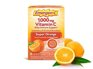 Package of Emergen-C Everyday Immune Support Super Orange