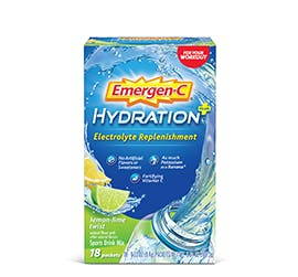 Box of Emergen-C Hydration+ in Lemon-Lime Twist