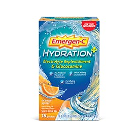 Box of Emergen-C Hydration Electrolyte Replenishment and Glucosamine