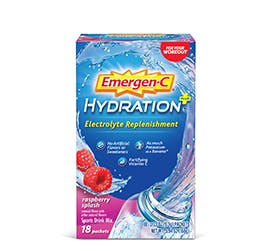 Box of Emergen-C Hydration+ in Raspberry