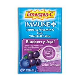 Packet of Emergen-C Immune+ in Blueberry-Acai