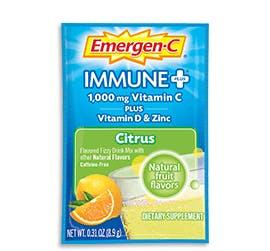 Packet of Emergen-C Immune+ in Citrus