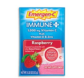 Packet of Emergen-C Immune+ in Raspberry