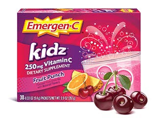 Package of Emergen-C Kidz Fruit Punch