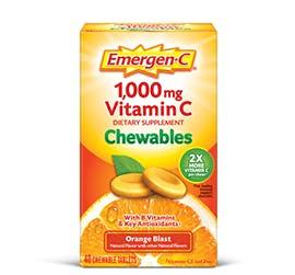 Package of Emergen-C Original Formula Chewables in Orange Blast