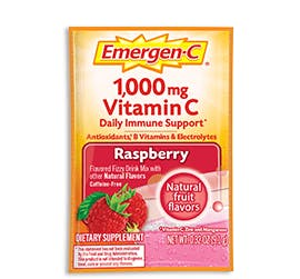 Packet of Emergen-C Everyday Immune Support in Raspberry flavor