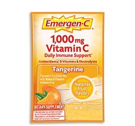 Packet of Emergen-C Everyday Immune Support in Tangerine flavor