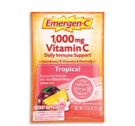 Packet of Emergen-C Everyday Immune Support in Tropical flavor