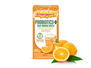 Package of Emergen-C Probiotics+ Orange