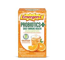 Box of Emergen-C Probiotics+ Orange