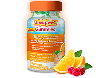 Emergen-C Gummies Orange, Raspberry & Tangerine