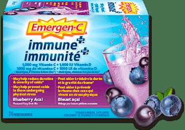 Emergen-C Immunité+ Bleuet-açai