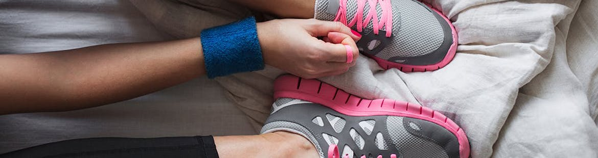 Woman getting ready to exercise to reduce stress