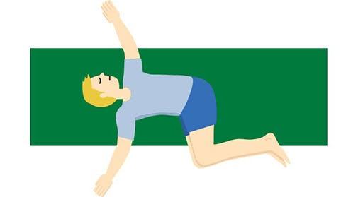 Supine Twist Yoga Pose Illustration