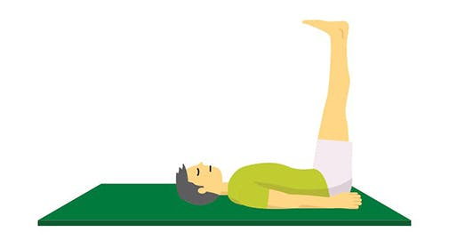 Legs Up The Wall Yoga Pose Illustration