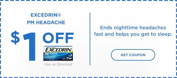 Excedrin Coupon PM Headache