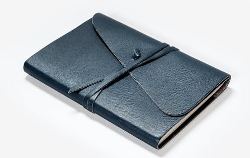 a leather migraine diary