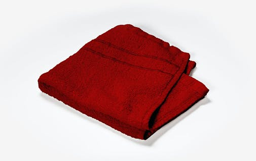 a red cloth