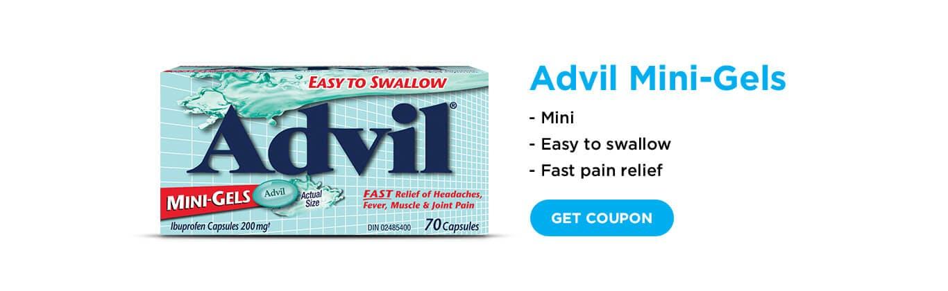 Advil mini gels banner