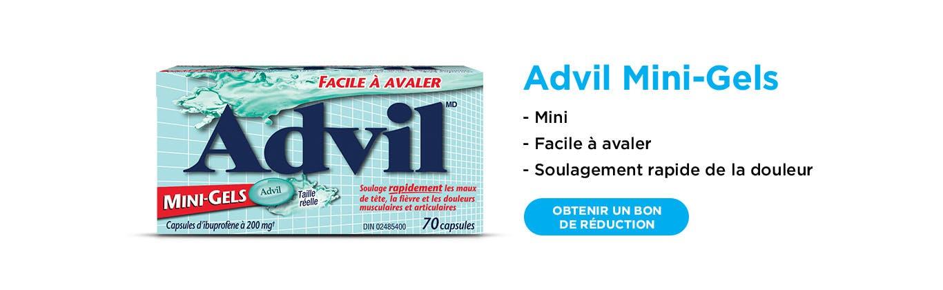 Nouveau Advil Mini Gels banner