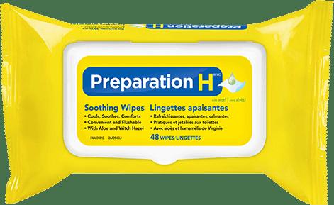 Lingettes apaisantes Préparation H packshot