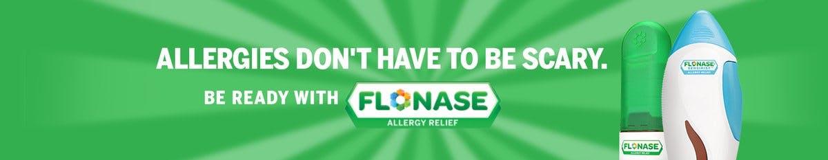 Nasal allergy sprays like Flonase helps relieve your pet dander and outdoor allergy symptoms