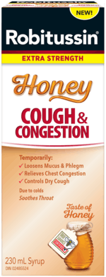 New Robitussin Extra Strength Honey Cough & Congestion