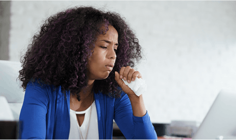 Women coughing