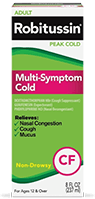 Multi-Symptom Cold Medicine, CF, (Over the Counter)