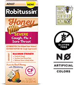 Robitussin Honey Maximum Strength Honey Severe Cough, Flu + Sore Throat