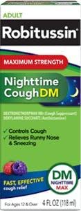 Nighttime Cough Syrup, DM, Maximum Strength (OTC)