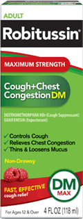 Cough + Chest Congestion Medicine, Maximum Strength, DM (OTC)