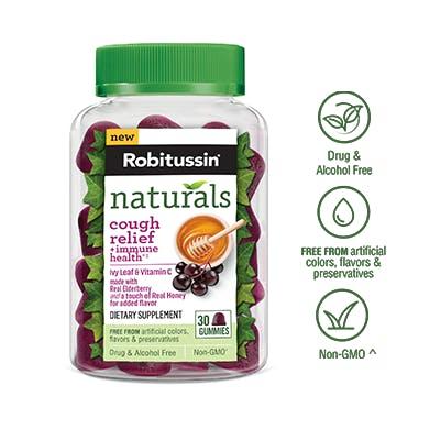 Naturals Cough Relief + Immune Health††* Gummies Dietary Supplement