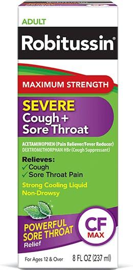 Maximum Strength Severe Cough + Sore Throat
