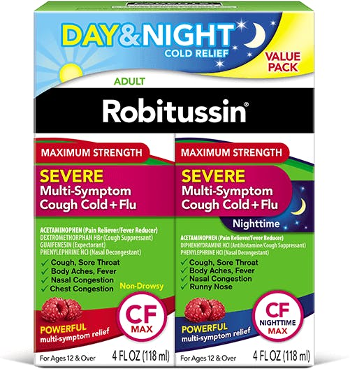 Severe, Cough Cold + Flu Medicine, Maximum Strength Multi-Symptom Pack (OTC)