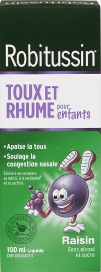 Robitussin Rhume Pour Enfants