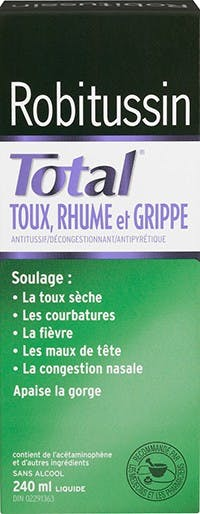 Robitussin Total Toux, Rhume et Grippe