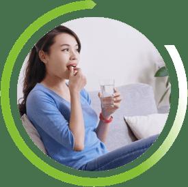 Cómo tomar un medicamento para la tos