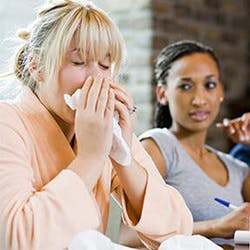 HOW LONG ARE A COLD OR FLU CONTAGIOUS?